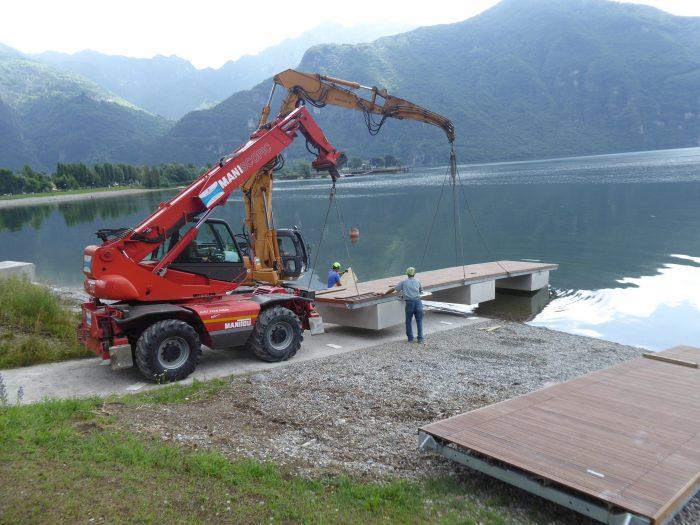 Nuovo attracco sul Lago d'Idro